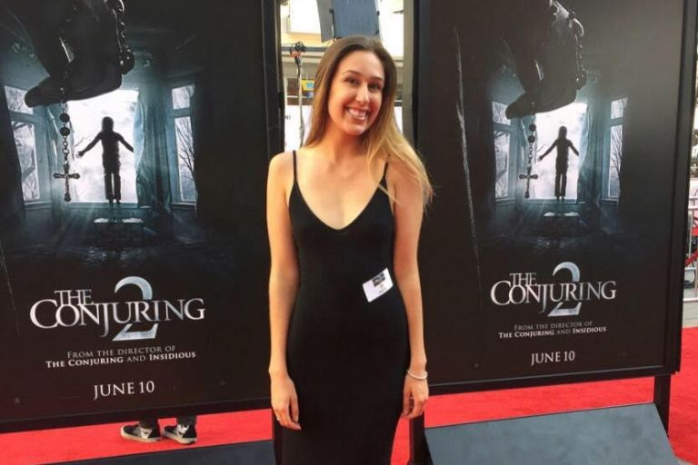 Sofia Grimsgard on the red carpet at The Conjuring 2 premiere